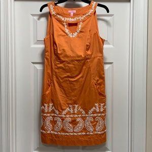 Lilly Pulitzer size 8 orange dress